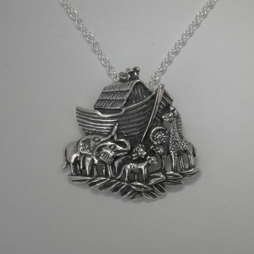 Sterling Silver Noah s Ark Necklace