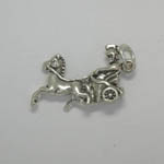 Sterling Silver Roman Centurion and horse and chariot charm/pendant