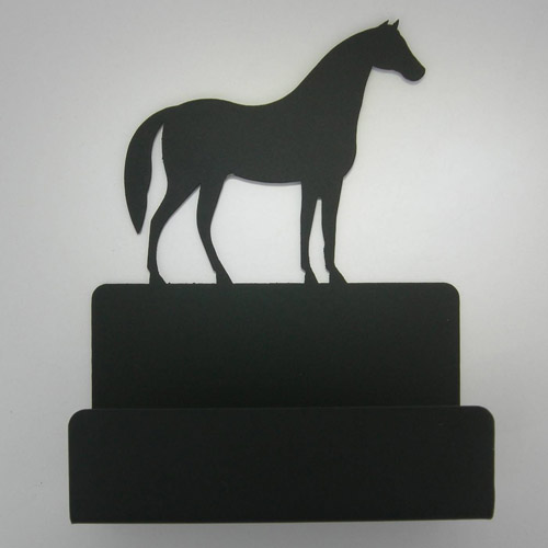 Wrought Iron Horse business card holder