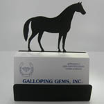Wrought Iron horse business card holder with cards