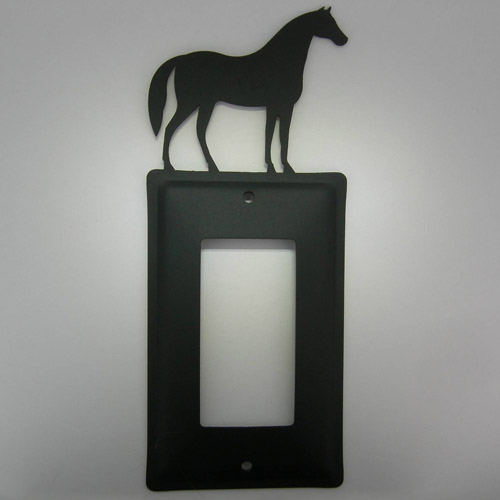Wrought Iron Horse toggle electric switch plate cover