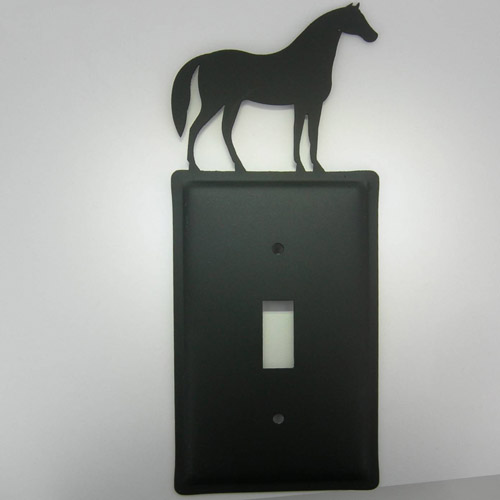Wrought Iron Horse electric switch plate cover