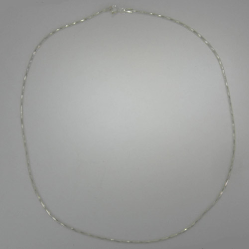 Sterling Silver diamond cut snake chain