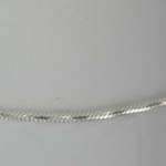 close up of Sterling Silver diamond cut snake chain