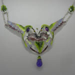 Close up of Hummingbird necklace