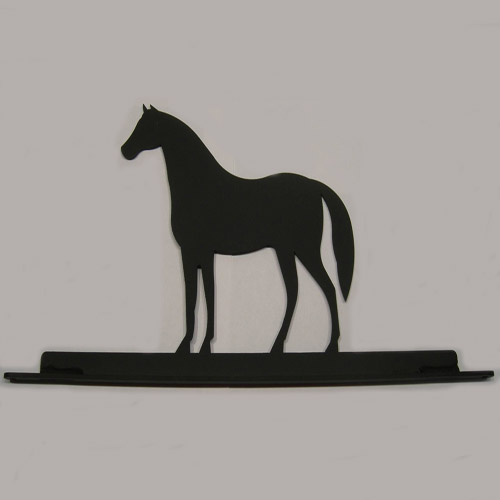 Wrought Iron Horse Mail Box Top Decoration