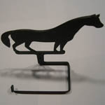Top view of Wrought Iron Horse bathroom tissue holder
