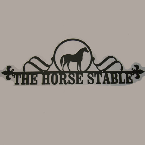 Wrought Iron Horse House Plaque