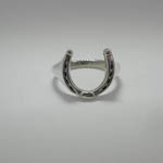 Sterling Silver large horseshoe ring