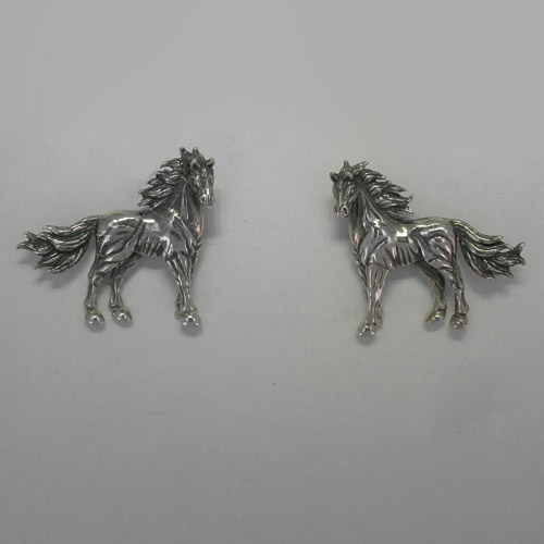 Sterling Silver Standing Horse post earrings
