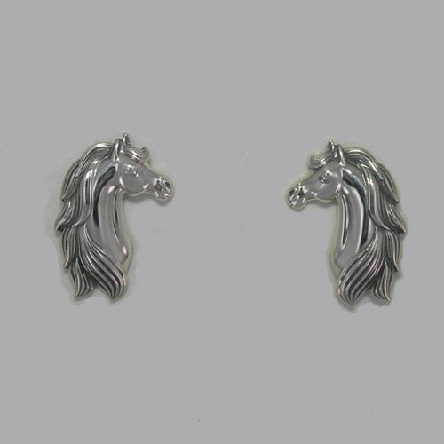 Sterling Silver small horse head post earrings