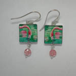 Sterling Silver other side of Tropical Beauty dangle earrings