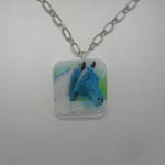 Acrylic horse head necklace
