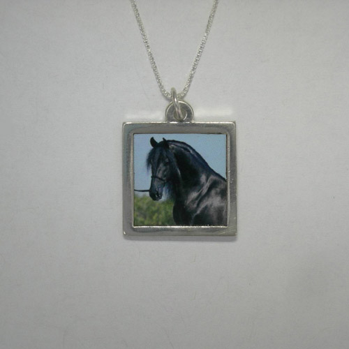 Sterling Silver Engravable Photo necklace