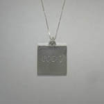 Sterling Silver back of photo necklace