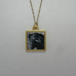 Vermiel double small photo necklace