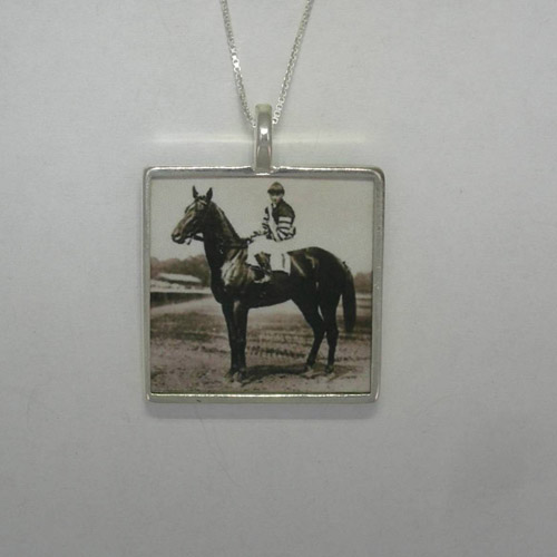 Sterling Silver large photo necklace