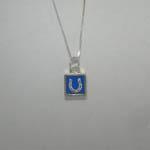 opposite side of mini square horseshoe necklace