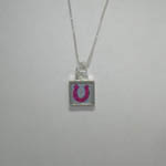 opposite side of reversible mini square horseshoe necklace