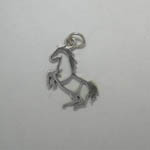 Sterling Silver silhouette rearing horse charm pendant