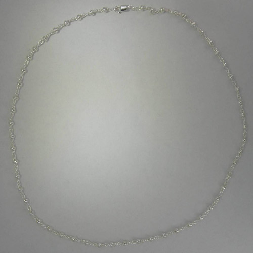 Sterling Silver rope with beads chain