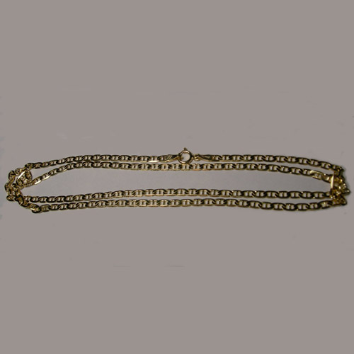 14 kt.y.g. 20 inch Anchor chain